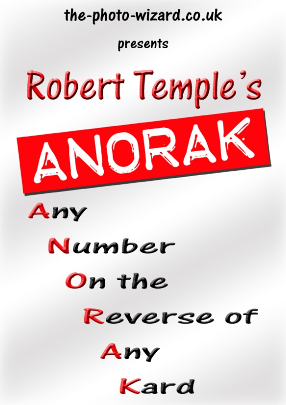 A.N.O.R.A.K - Any Number On Reverse Of Any Kard