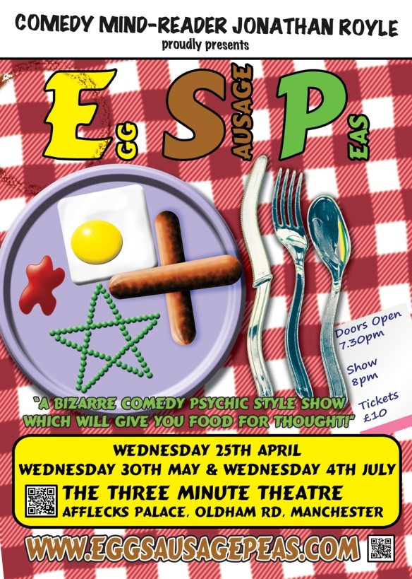 Manchester Festival of Mentalism & Magic - Egg Sausage Peas with Hypnotist Psychic Magician Jonathan Royle
