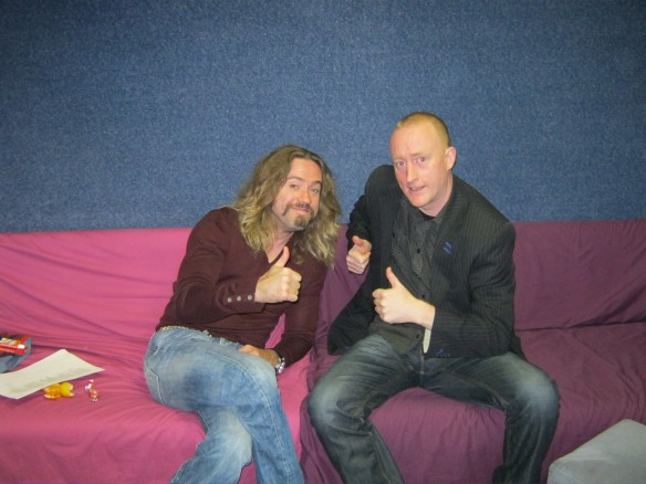 Justin Lee Collins & Jonathan Royle on Big Brothers Little Brother Saturday 16th June 2012 Belly Button Reading Navel Gazing Psychic