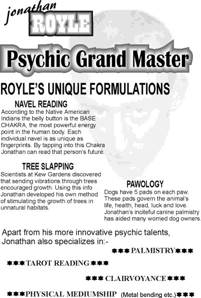 Jonathan Royle Psychic Entertainer