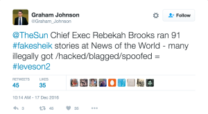 Former News of the World Journalist Graham Johnson Comment on Mazher Mahmood Hacking Blagging Spoofing