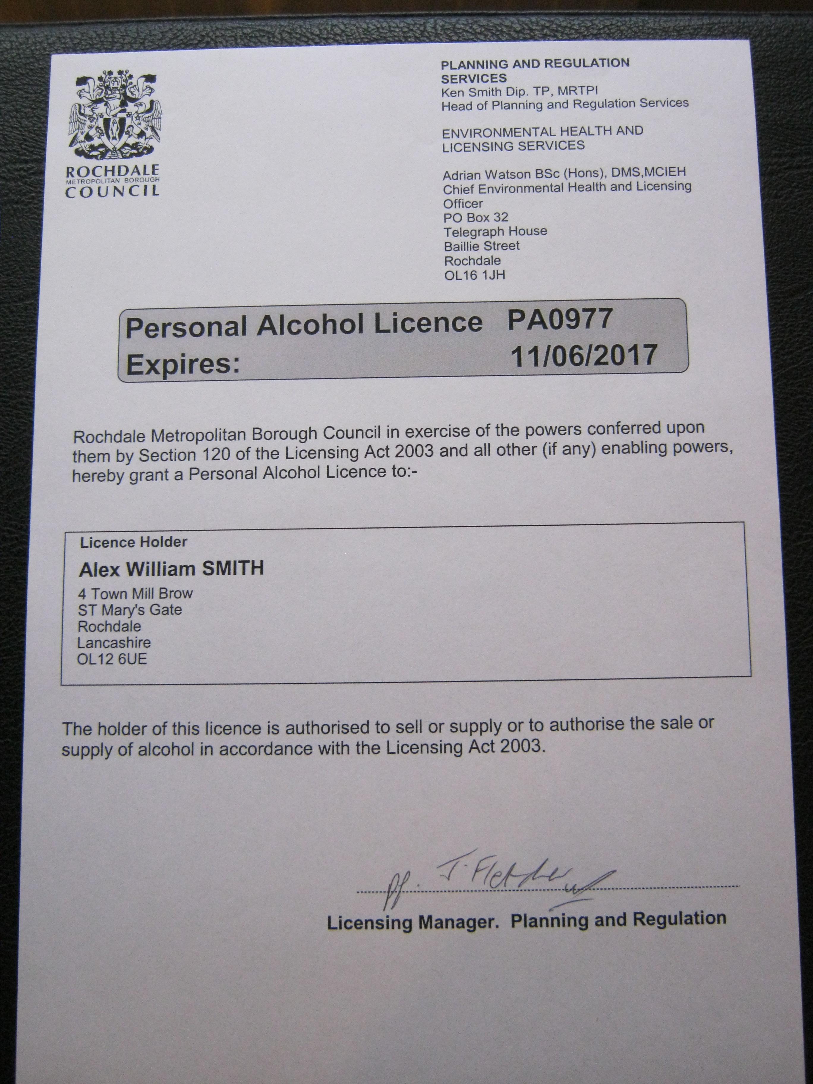 Personal licence plates sa