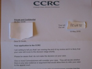 Criminal Cases Review Commission - CCRC - Letter to Alex Smith