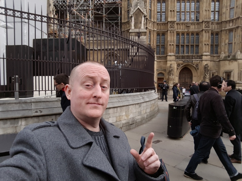 About to enter Parliament with Hacked Off to Lobby for Leveson 2 to Occur - 20th March 2018