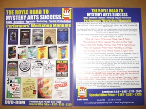 The Royle Road To Mystery Arts Success Front & Back Covers
