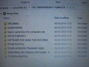 Disk Five - Transparency Template - Contents of Folder C
