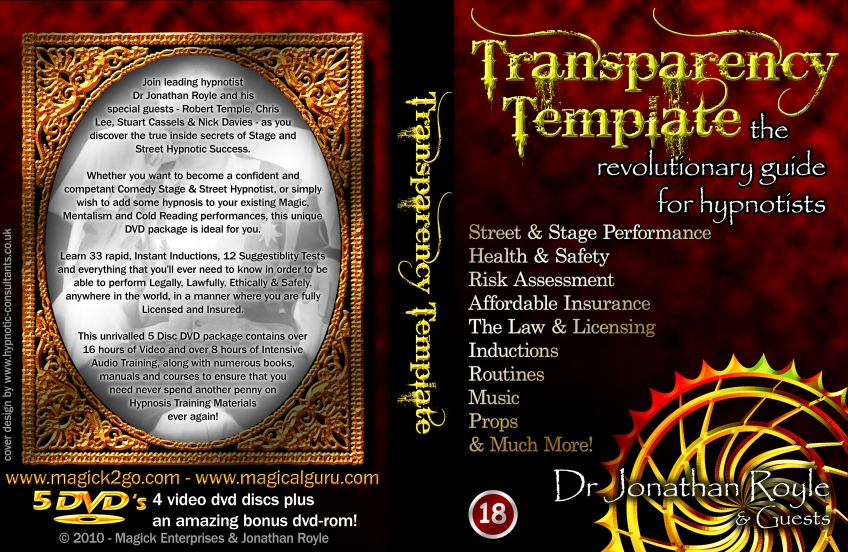 Transparency Template Stage & Street Hypnosis
