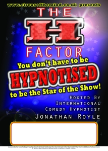 The H Factor Live Comedy Stage Hypnosis Game Show