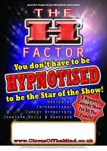 H Factor Poster Double Act A4 CMYK 2MM BLEED