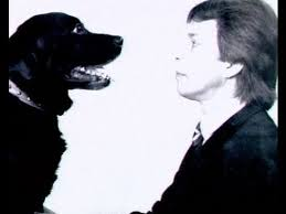 Hypnotist Hugh Lennon and Oscar the Hypnodog