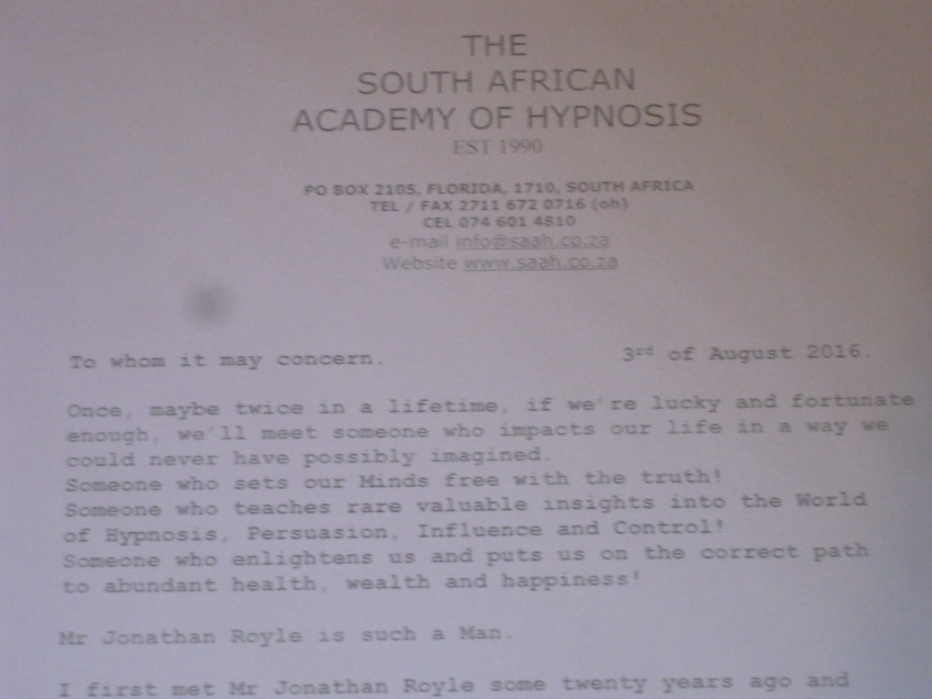 Hypnosis Hall of Fame