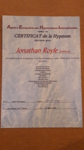 French Hypnose Association Trainers Diploma
