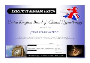 Jonathan Royle UKBCH Executive Member