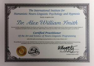 Alex Smith aka Jonathan Royle Certified NLP Practitioner