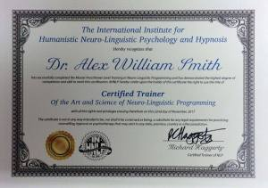 Alex Smith aka Jonathan Royle Certified NLP Trainer