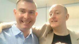Alex Smith aka Dr. Jonathan Royle with NLP Trainer Richard Haggerty