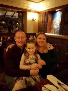 Hypnotherapy Expert Alex Smith aka Jonathan Royle Hypnotist with Wife Rachel and Daughter Ashleigh