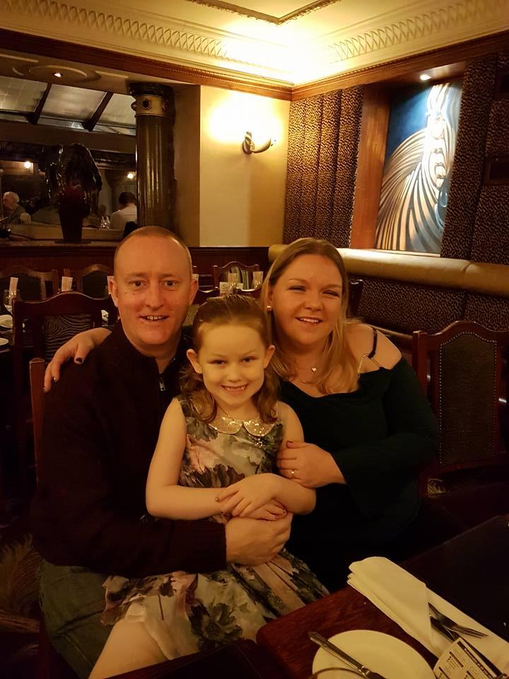 Hypnotherapy Expert Alex Smith aka Jonathan Royle Hypnotist with Wife Rachel and Daughter Ashleigh