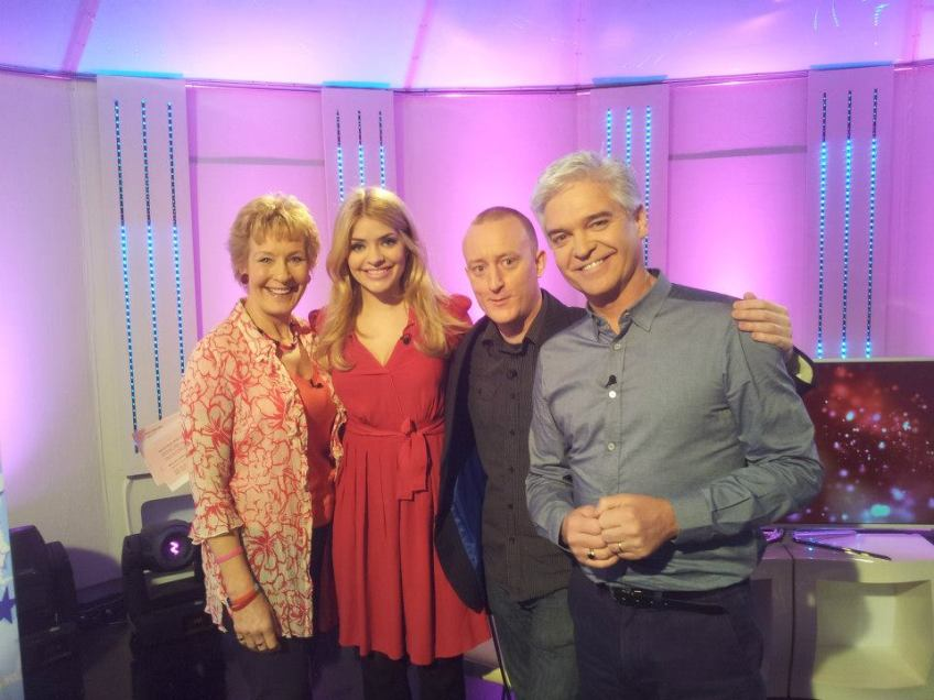 Alex Smith aka Jonathan Royle when he appeared on ITV's This Morning Show