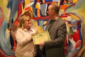 Hypnotherapy Trainer Susan Lawrence with Alex Smith aka Dr. Jonathan Royle Hypnotist