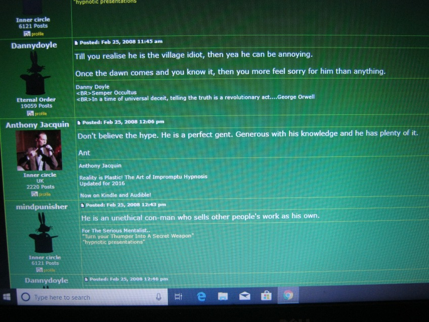 Anthony Jacquin Praises Jonathan Royle on Magiccafe 2008