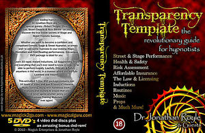 The Transparency Template Legal Safe Ethical Street Hypnosis & Stage Hypnotism DVDS