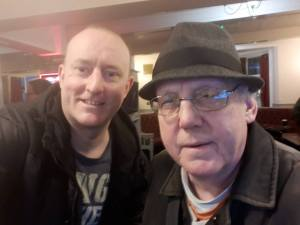 Hypnotist Jonathan Royle with his Cousin & Artist, the creator of EX TEMPUS Roger Howarth aka Roger Greenhlash Standring from Rochdale.