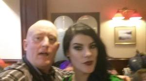 Hypnotist Jonathan Royle with Jasz Vegas Magicienne at Blackpool Magic Convention