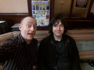 Jonathan Royle with John King aka Jack Sharp of World Magic Network at Blackpool Magic Convention in the Ruskin