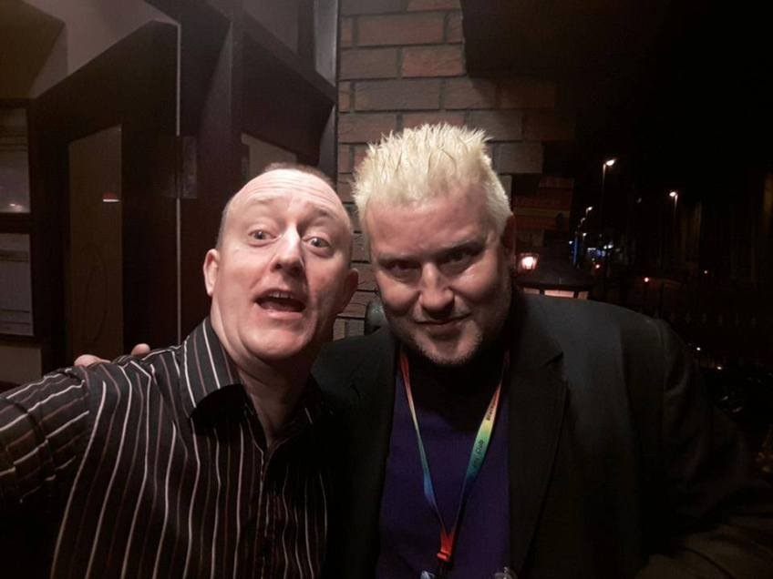 Hypnotist Jonathan Royle with Magician & Mentalist Morgan Strebler at Blackpool Magic Convention
