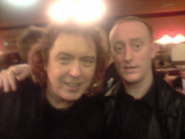 Hypnotist Jonathan Royle with Magician Jeff McBride in the Ruskin Hotel at Blackpool Magic Convention