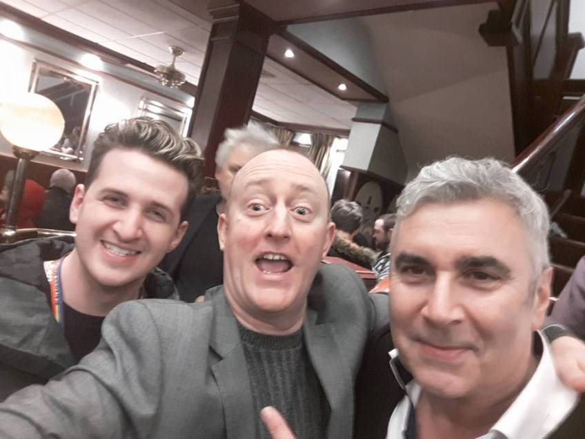 Hypnotist Jonathan Royle with Magicians Marvin Berglas & Danny Grew at Blackpool Magic Convention