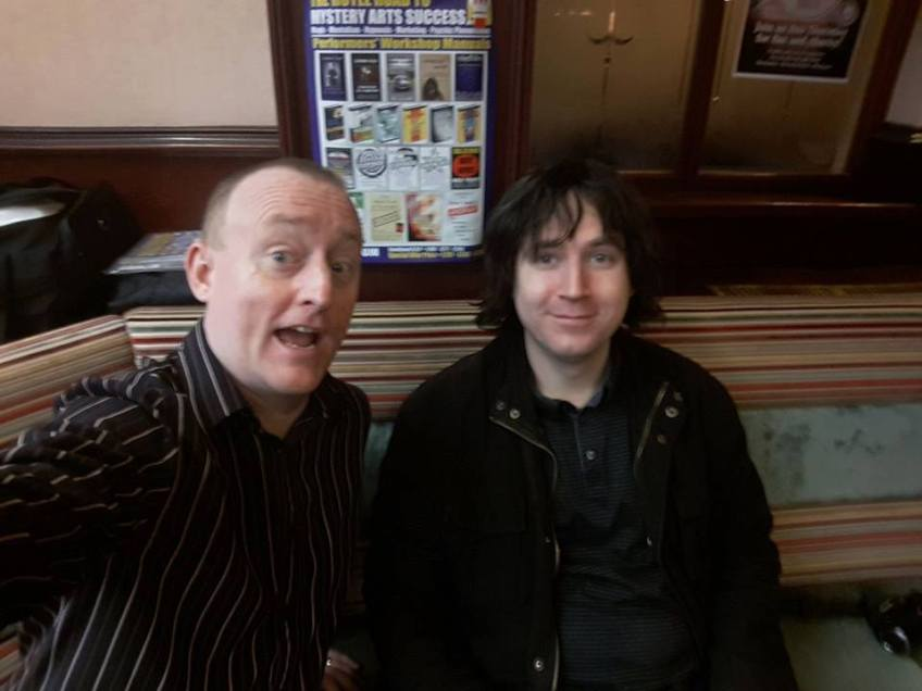 John King Magician and Comedy Stage Hypnotist with his Hypnotic Mentor Jonathan Royle