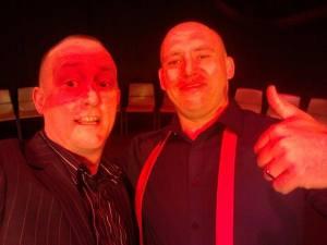 Comedy Hypnotist Al Shea The TranceFormer with his Mentor Jonathan Royle