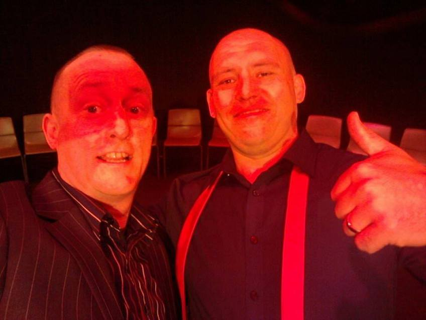 Comedy Hypnotist Al Shea The TranceFormer with his Mentor Jonathan Royle