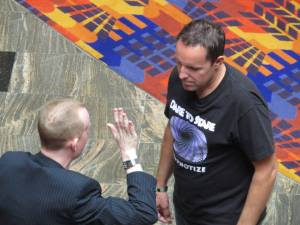 Jonathan Royle Hypnotizes Incredible Hypnotist Richard Barker during the 1st Ever Hypnotist Entertainment Cruise