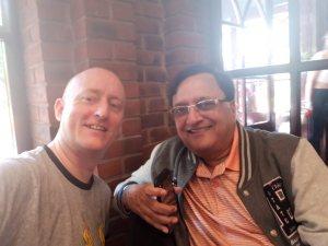 Hypnotist Pradeep Aggarwal with Fellow Hypnosis Trainer Jonathan Royle