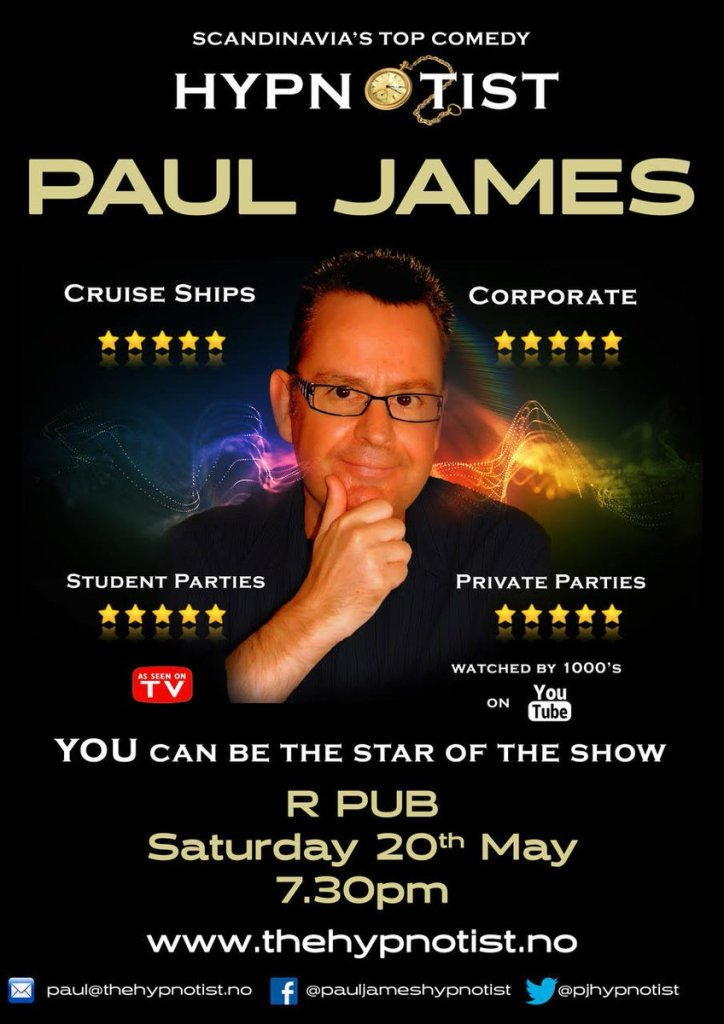 Paul James Comedy Stage Hypnotist Norway