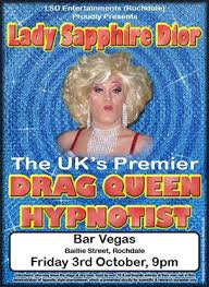 Lady Sapphire Dior aka Ryan Carrington Comedy Stage Hypnotist