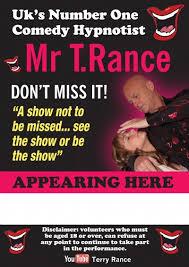 Mr Terry Rance aka T. Rance Stage Hypnotist Originally Taught by Jonathan Royle