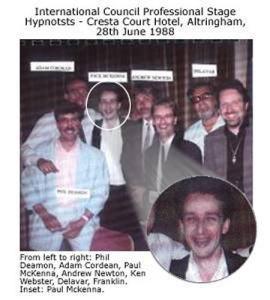 Delavar is pictured with Paul McKenna, Andrew Newton, Ken Webster & Other Hypnotists.