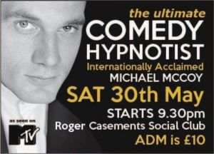 Michael McCoy Ireland based Hypnotist taught by Jonathan Royle
