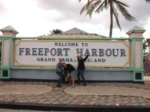 Stopping off at FreePort Harbour with Incredible Hpynotist Richard Barker and Jay Noblezada During the 2013 Hypnotist Entertainment Cruise.