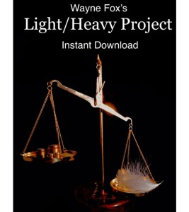 Light Heavy Project by Wayne Fox Magician as Reviewed by Hypnotist Jonathan Royle