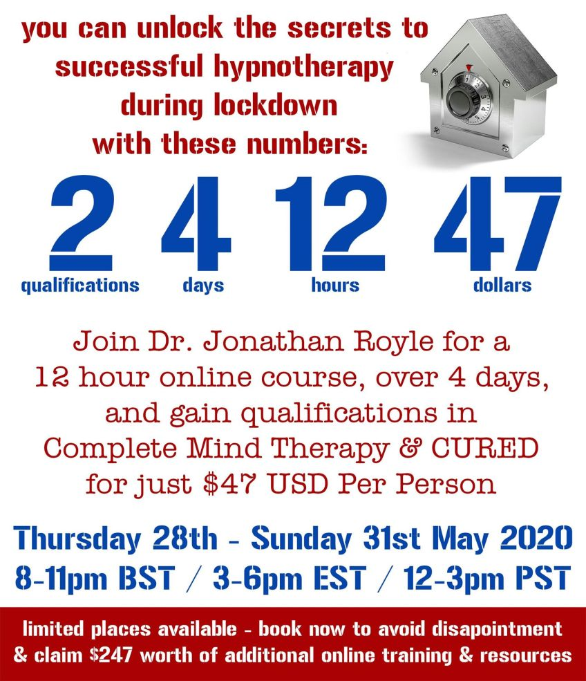 Live Online Hypnotherapy & NLP Hypnosis Diploma Course Training Event