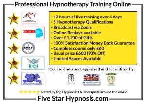 Five Star Hypnosis Course Hypnotherapy & NLP Hypnosis Mind Therapy Training