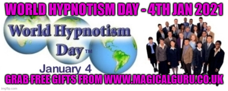 World Hypnotism Day 4th January 2021